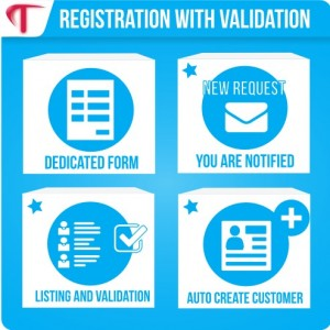 Registration with request